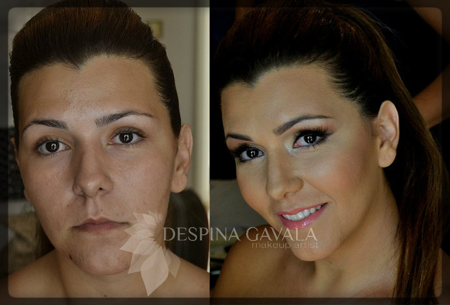 bridal makeup before and after1