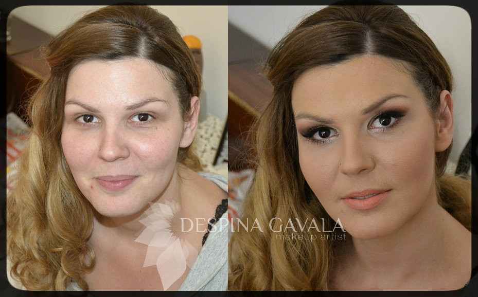 bridal makeup before and after (2)
